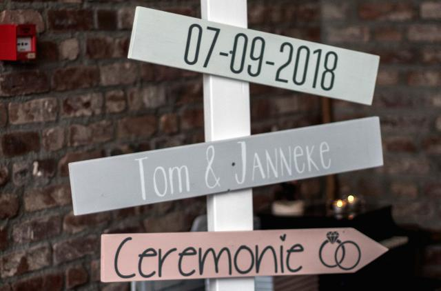 Huwelijk Tom en Janneke